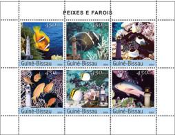 Guinea Bissau 2004 Fishes  & Lighthouses - Guinea-Bissau