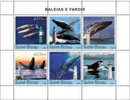 Guinea Bissau 2004 Whales & Lighthouses  ,fauna - Guinea-Bissau