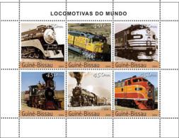 Guinea Bissau 2004  Steam Trains (American) - Guinea-Bissau
