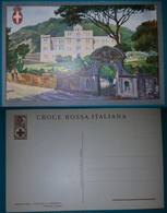 """Cartolina (Illustrata Firmata) Croce Rossa Italiana - Preventorio """"Principe Di Piemonte"""" Pozzuoli. Non Viaggiata - Croix-Rouge"""