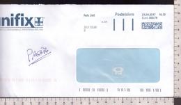 C3409 Storia Postale 2017 AFFRANCATURA MECCANICA POSTALIGHT Euro 0.79 TERLANO - Affrancature Meccaniche Rosse (EMA)