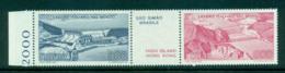 Italy 1981 Civil Engineering Works Abroad Pair + Label MUH Lot57183 - 6. 1946-.. Repubblica