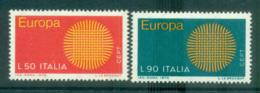 Italy 1970 Europa, Woven Threads MUH Lot65507 - 6. 1946-.. Republic