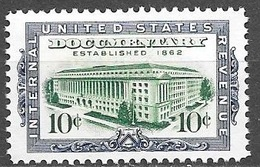 1962 10 Cents IRS Building, Revenue, Mint Never Hinged - Revenues