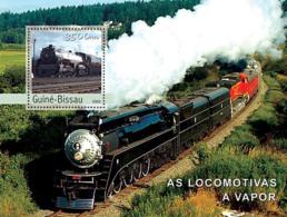 Guinea Bissau 2003 Steam Trains - Guinea-Bissau
