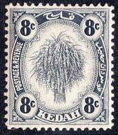 MALAYA KEDAH 1936 8c Grey Black Sheaf Of Rice SG57 MH - Kedah