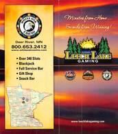 Leech Lake Gaming - Palace, Northern Lights & White Oak Casinos In MN - Brochure - Casino Cards
