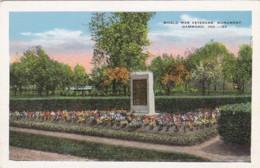 Indiana Hammond World War Veterans' Monument - Hammond