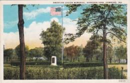 Indiana Hammond Harrison Park American Legion Memorial Curteich - Hammond