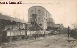 LE MARTINET MINES DE TRELYS LE LAVAGE ET LE CHARGEMENT DES WAGONS METIER USINE INDUSTRIE MINEURS 30 GARD - France
