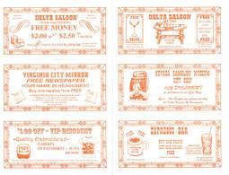 Delta Saloon / Virginia City NV / Advertising & Coupon Sheet (blank Reverse) - Advertising