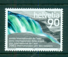 Switzerland 2003 Year Of Water MUH Lot59055 - Zwitserland