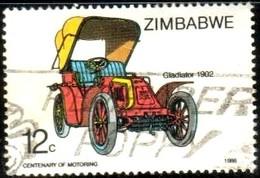 Antique Car, Gladiator, 1902, Zimbabwe Stamp SC#536 Used - Zimbabwe (1980-...)