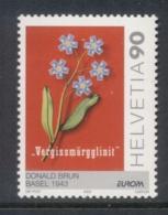 Switzerland 2003 Europa Flowers MUH - Zwitserland