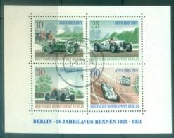Germany Berlin 1971 Racing Cars MS FU - Non Classificati