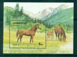 Azerbaijan 1993 Horses MS MUH - Azerbaïjan