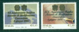 Italy 2005 Italy-Vatican Concordat MUH - 6. 1946-.. Republic