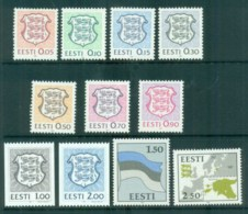 Estonia 1992 Definitives, Map, Arms, Flag (10) MUH - Estonia