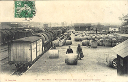 86- BEZIERS -expéditions Des Vins Par Wagons-foudre -ed. M Pons - Beziers