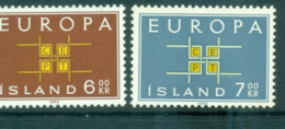 Iceland 1963 Europa, Interlock Links MUH Lot65357 - 1944-... Republic