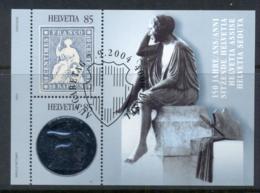 Switzerland 2004 Stiitng Helvetia Stamps & Coins MS CTO - Switzerland