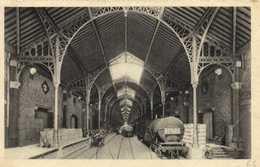 LES CHAIS DE BYRRH A THUIR  Le Grand Hall Train Wagons  Recto Verso - France