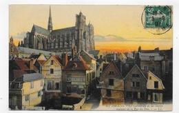 (RECTO / VERSO) AMIENS EN 1907 - N° 103 - LA CATHEDRALE ET VIEILLES MAISONS DE LA RUE DU DON - BEAU CACHET - CPA VOYAGEE - Amiens
