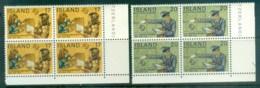 Iceland 1974 Centenary Of UPU Blk 4 MUH Lot76401 - 1944-... Republic