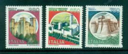 Italy 1986-90 Castles (3) MUH Lot57141 - 6. 1946-.. Republic
