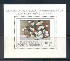 Romania 1979 Flowers Paintings MS MUH - 1948-.... Republics