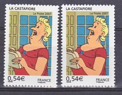 France 4055 Variété Brun Clair Et Foncé La Castafiore Neuf ** TB MNH Sin Charnela - Variétés Et Curiosités
