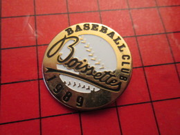 513C Pins Pin's / Rare & De Belle Qualité  THEME : SPORTS / BASEBALL CLUB BOSSETTES 1989 - Baseball