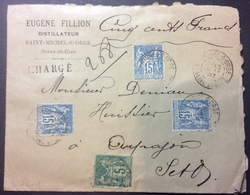 S76-1 Seine Et Oise CHARGÉ St Michel Sur Orge «Fillion Verso ++ Sage 15cx3 5c - 1877-1920: Période Semi Moderne