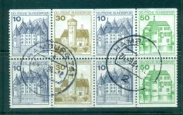 Germany 1980 Booklet Pane Castles 4x 10, 2x30, 2x50pf FU Lot60526 - [7] République Fédérale