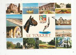 Cp,  62 , LE TOUQUET ,voyagée 1978 , Ed. De L'Europe, Multi Vues ,blason, Cheval - Le Touquet