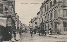 Carte Postale Ancienne De Chaumont (52) La Rue De La Gare - Chaumont