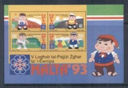Malta 1993 Small States Of Europe Games MS MUH - Malta