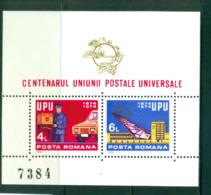 Romania 1974 UPU Centenary MS MUH Lot56399 - 1948-.... Republics