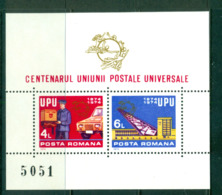 Romania 1974 UPU Centenary MS MUH Lot57441 - 1948-.... Republics