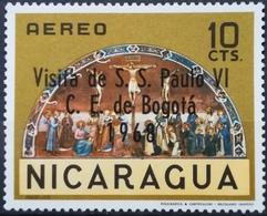1968 NICARAGUA MNH Overprint Visita De S.S. Paulo VI C.E. De Bogota Visit Of Pope Paul VI - Nicaragua