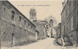 Carte Postale Ancienne De Legé ( 44 ) Rue Montée De L'église - Legé