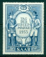 Saar 1953 Stamp Day MLH Lot38490 - 1947-56 Protectorate