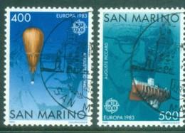 San Marino 1983 Europa, Piccard, Balloon CTO - Unused Stamps