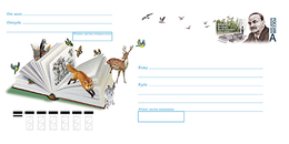 2019-329 Russia  Cover Envelope Vitaly Bianki , Writer. Fauna:bird:woodpecker.Mammals:fox,deer,hare - Scrittori
