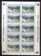 Romania 1994 WWF Sturgeon 280l Sheetlet CTO - 1948-.... Republics