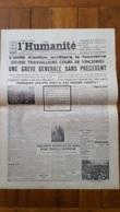 L'HUMANITE FAC SIMILE DE LA UNE DU 13/02/1934 N°12844 L'UNITE D'ACTION ARRETERA LE FASCISME - Journaux - Quotidiens