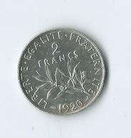 2 Francs Argent 1920 - I. 2 Francos