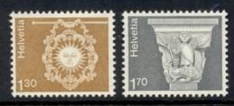 Switzerland 1973-80 Definitive, Architecture 1.30f, 1.70f MUH - Neufs