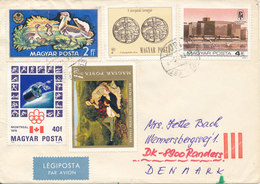 Hungary Cover Sent Air Mail To Denmark Budapest Topic Stamps - Hungary