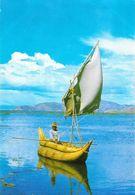 Bolivia - Uros: Balsero En El Lago Titicaca (barque En Jonc Totora) - Bolivia